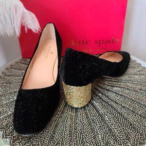 Kate Spade New York Serene Black Star Velvet Gold